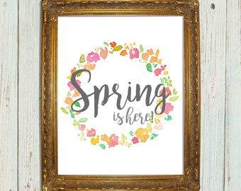 Spring is Here Printable 8 x 10
