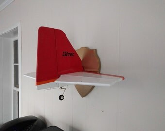 Airplane Wall Hanging - Mounted Airplane Tail - Radio Control Airplane - Kids Room Decoration