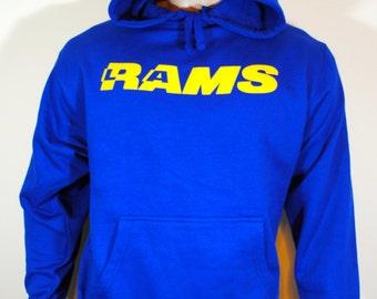 LA Rams Football Mens Hoodie Los Angeles Sweatshirt