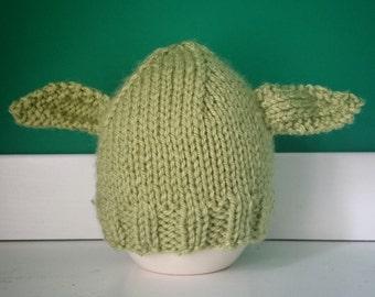 Hand knitted newborn yoda hat star wars beanie for babies