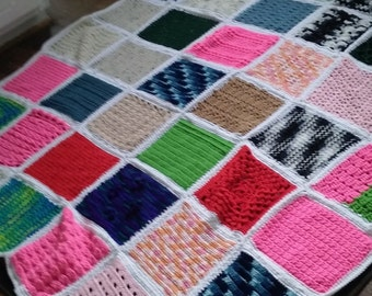 48 Square Patchwork Afghan