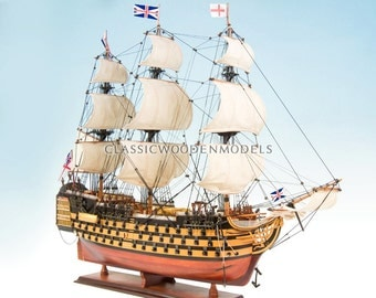 HMS Victory painted 1765 (95cm) Model Tall Ship