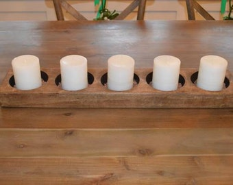 Wooden candleholder for 5 candles
