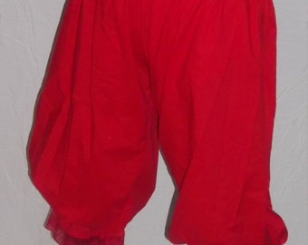 Plus red pantaloons with red lace trim