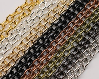 100 pcs of 24 inch Chunky Cable Chain Mix and Match Necklace from 8 Color - 5x3.5mm Link - Ship from California USA