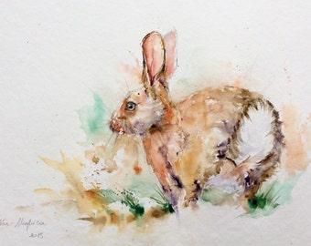"""Watercolour original """"Hare"""""""