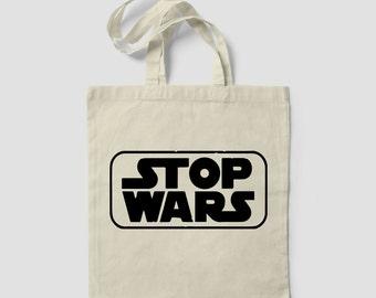 Tote Bag STOP WARS star wars jedi peace