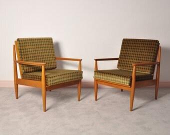 Mid century lounge armchairs