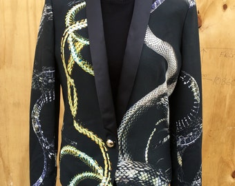 just cavalli snake print tuxedo | size 44