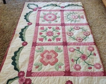 Quilt with All Hand Applique