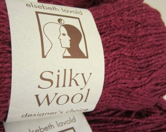 Silky Wool by Elsebeth Lavold in Magenta - Silk & Wool (9 skeins available)