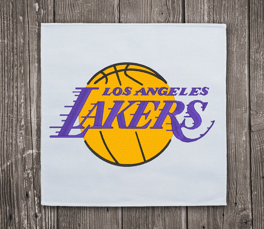 Los angeles lakers logo embroidery design nba by mbroidownload Logo designers los angeles