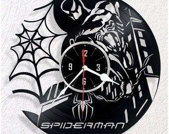 Vinyl wall clock Spiderman