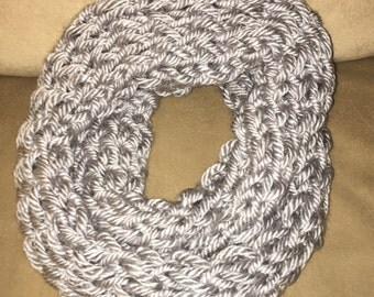 Infinity Scarf Finger Knitted