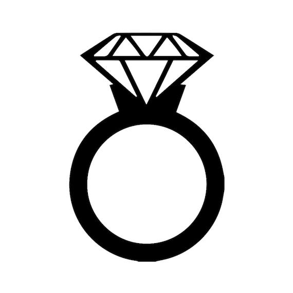 Decal Serpent Sp 1184 Diamond Wedding Ring Silhouette Vinyl