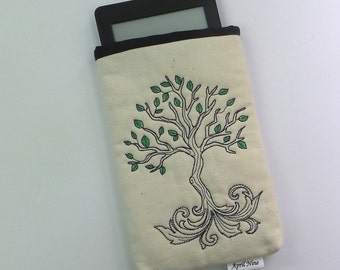 Tree of Life Pouch, E-reader pouch, Makeup pouch, Kindle pouch, Gadget pouch, Nook pouch, Coin pouch, travel pouch