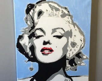 Marilyn Monroe Pop Art Painting 16x20