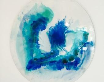 CUSTOM   Resin Art Painting Abstract Round Porthole