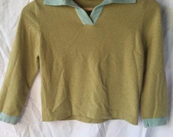 Sea green cashmere top
