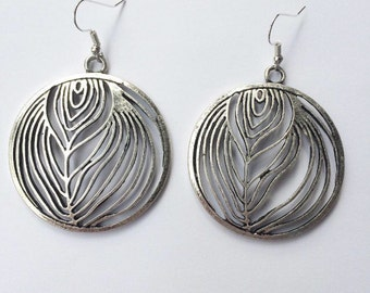 Large Patterned Charm Earrings