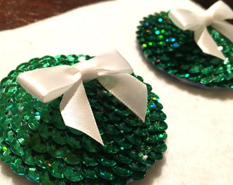 Sequin Pasties - Green