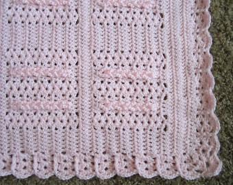 Crochet Baby Blanket - Pink