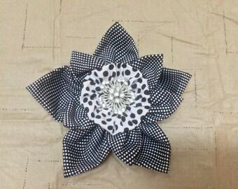 Polka Dot Fabric Flower
