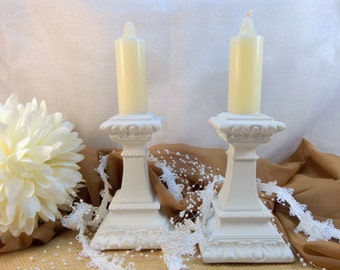 Candle Holders, Shabby Chic Candle Holders, Candle Stick Holders, Shabby Chic Decor, French Country Decor, Wedding Decor, Wedding Candle