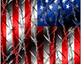 American Flag Barbwire LAMINATED Cornhole Wrap Bag Toss Decal Baggo Skin Sticker Wraps