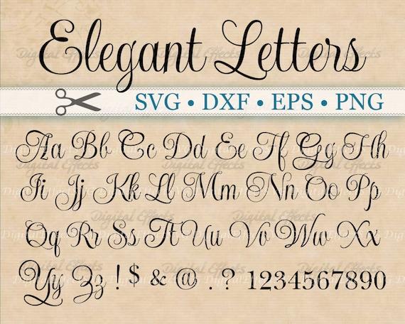 ELEGANT Script Font Monogram Svg Dxf Eps Png by ...