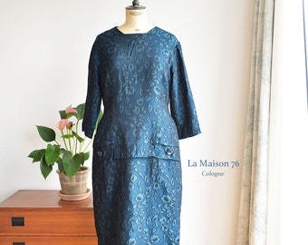Vintage 50s-60s  Satin Brocade Dress