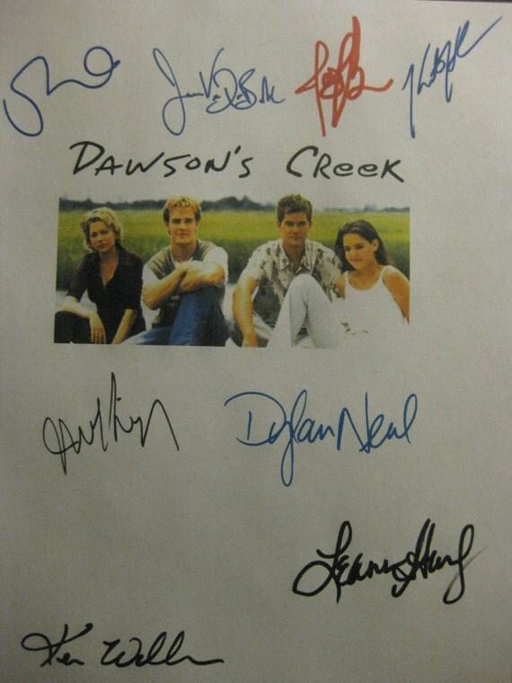 Dawson's Creek Signed TV Screenplay Script X8 Autograph James Van Der Beek Joshua Jackson Katie Holmes Michelle Williams John Wesley Shipp