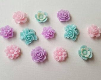 Pastel cabachon set, (12 pieces, medium size)