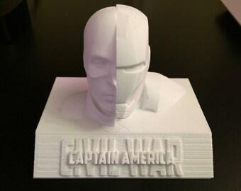Captain America Civil War - Captain/Iron Man Bust Mashup