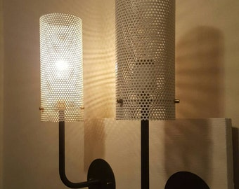 Pair of Mesh cylinder Sconces