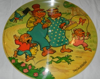 Vintage 1982 Stan and Jan Berenstain Bears Picture Disk / Disc                                                                         15-13
