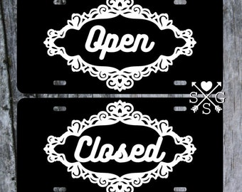 Business Sign Open Sign Closed Sign Hours Sign