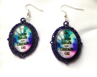 "Earrings ""Keep Calm and Dream we"""