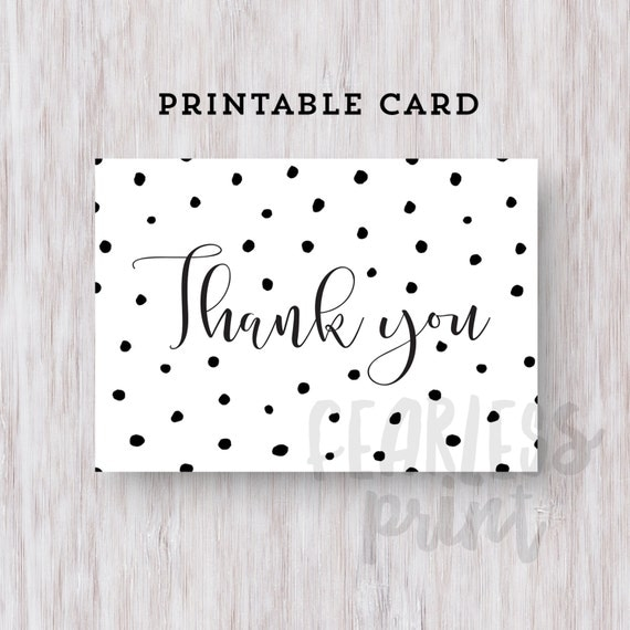 Thank You Card Printable | Printable Thank you Card | Calligraphic Thank You Card | Digital Card | Thank You Note INSTANT DOWNLOAD