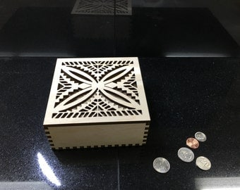 Geometric Flower Designed keepsake box