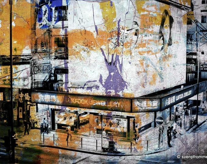 HONG KONG Streets II by Sven Pfrommer - Artwork is ready to hang