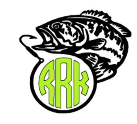 Items similar to yeti fish monogram decal vinyl for Fishing yeti decal