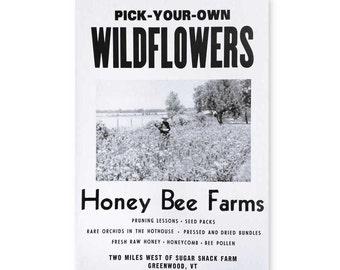 Wildflowers Roadside Sign Poster Print