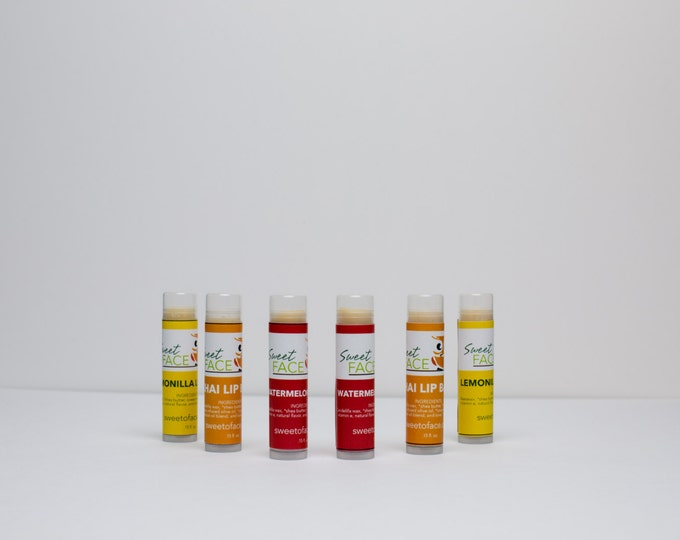 All Natural Lip Balm , Pick from 4 Assorted Flavors