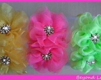 Toddler/Girl Neon Flower Headband