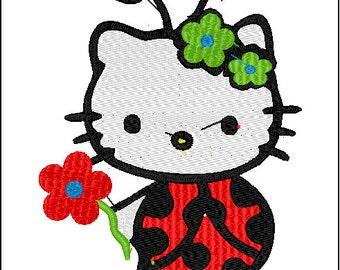 Hello Kitty: Ladybug Embroidery Designs