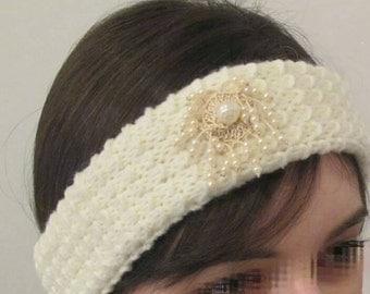 Perle sage, pearl head band.