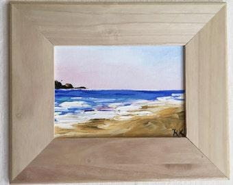 Beach Sea Ocean Painting Oil Palette Knife Original