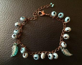 Native American Inspired Turquois & Bronze Bracelet