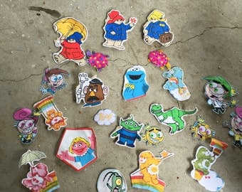 Lot of felt magnets and stickers